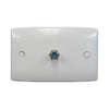 Single F Type Wallplate