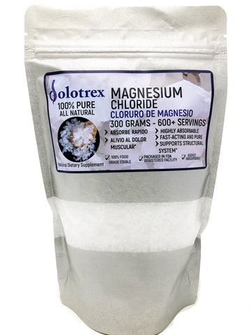 Dolotrex Magnesium Chloride Supplement Pure Food grade flakes for Muscle Pain - 300g