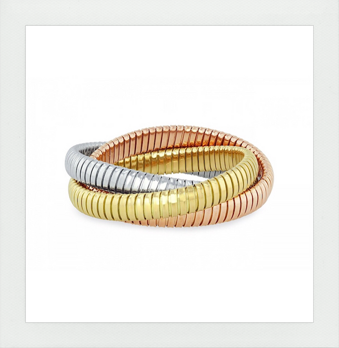 The new Rolling Bracelet in Three Colors plated