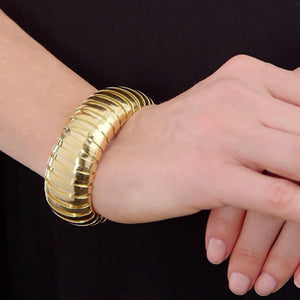Large Domed cuff tubogas bracelet