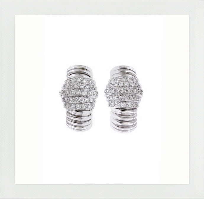 Scala pair of earrings with diamonds