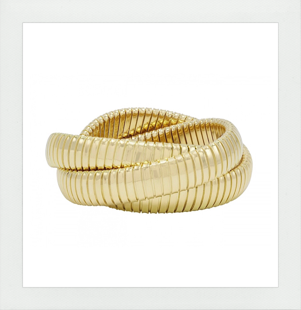 Rolling Bracelet in all yellow gold
