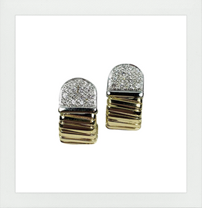 Verona pair of earrings with diamonds
