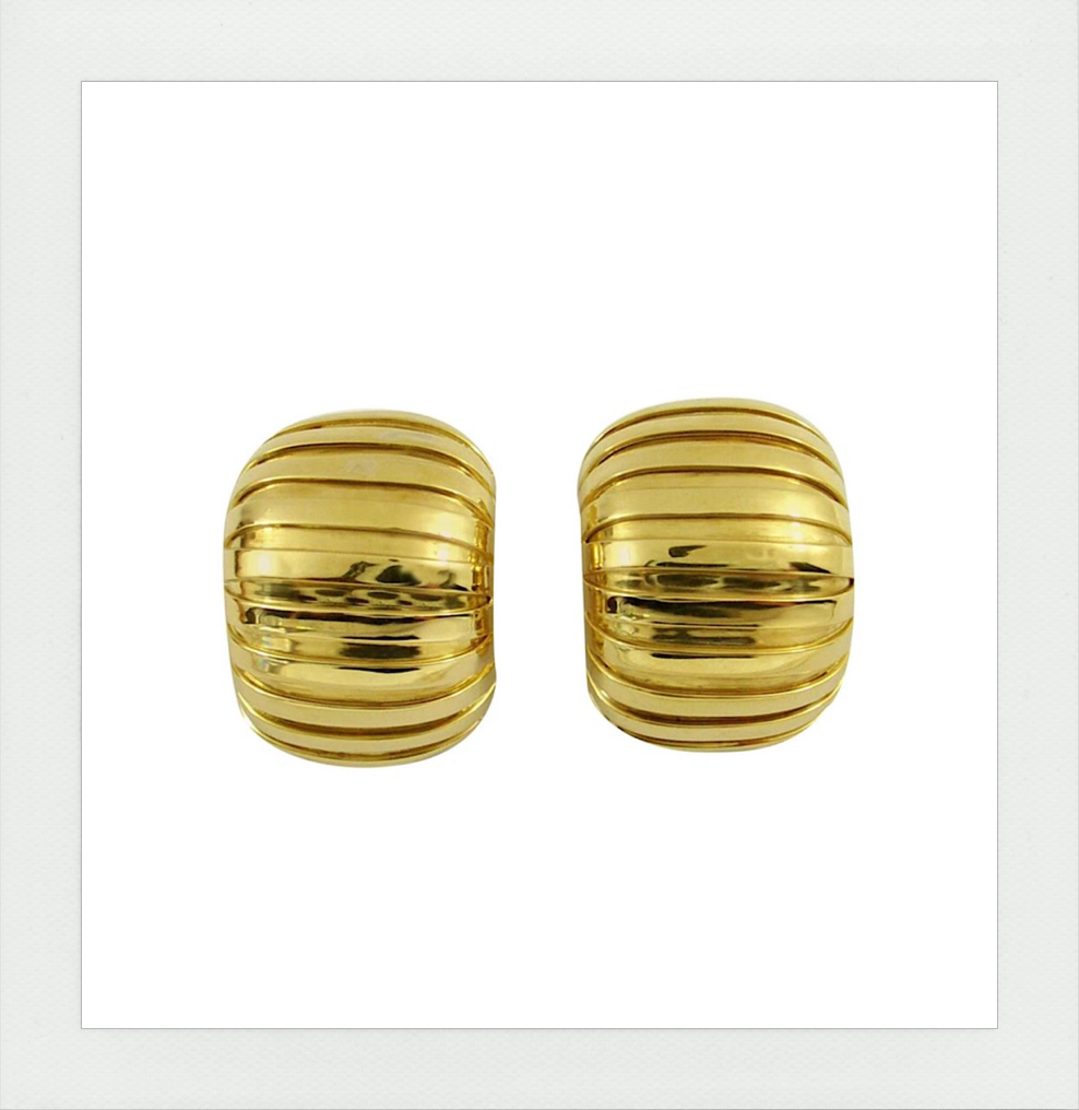 Large domed tubogas earrings