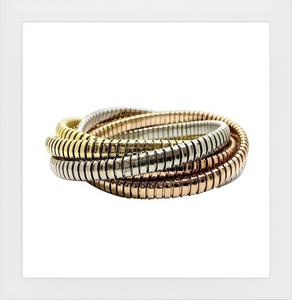 Multi Strand Rolling Bracelet in 3 Colors Gold - The Original sold by Sidney Garber and others