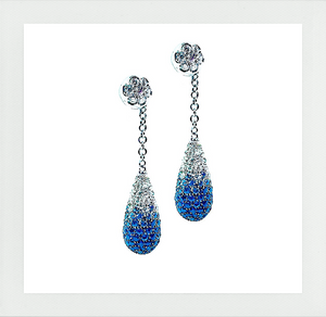 Royal Earrings with sapphire