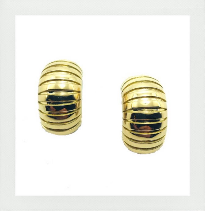 Medium domed tubogas earrings