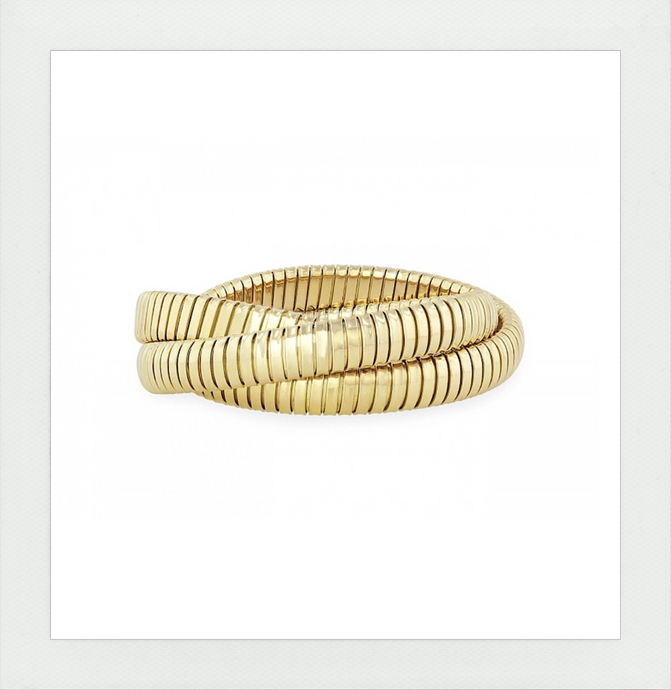 Rolling Bracelet in Yellow Gold the Original made in Italy limited edition in silver