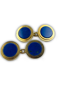 Gold and lapis lazuli cufflinks