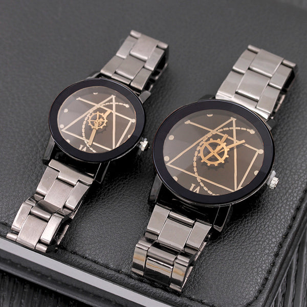 Couple Matching Stainless Steel Watch