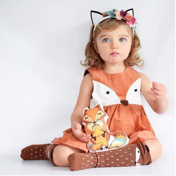 Adorable Fox Pattern Dress