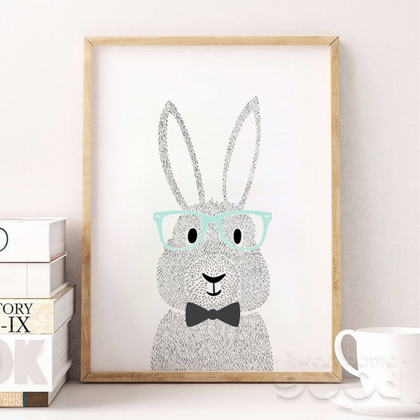 Cartoon Rabbit Canvas Print