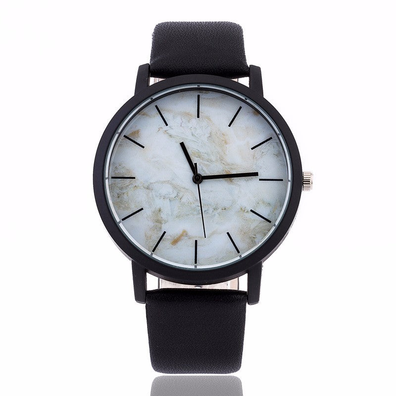 Unisex Marble Effect Watch