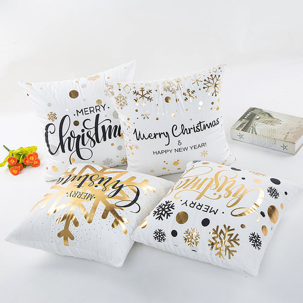 Golden Christmas Pillow Cover