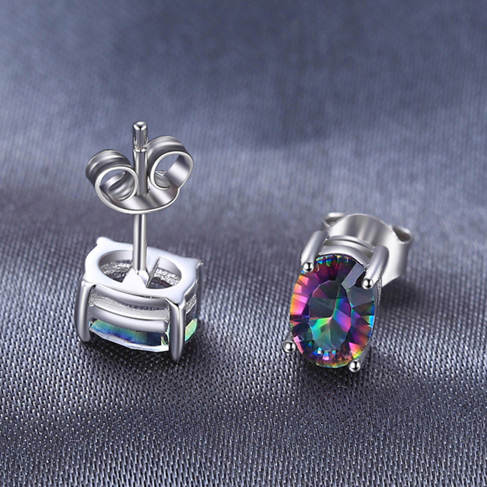 Mystic Topaz Stud Earrings
