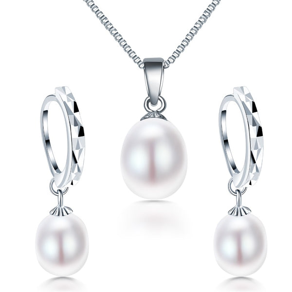 Silver & Pearl Jewelry Set