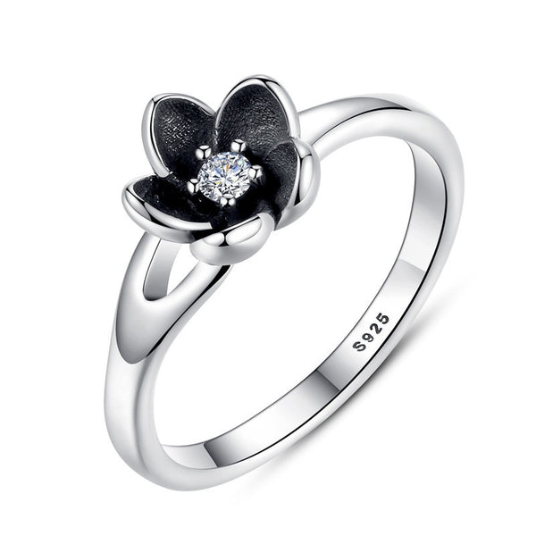 Silver Floral Ring