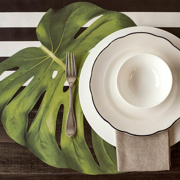 Set of 12 Tropical Leaves Place mats