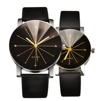 Couple Matching Modernist Leather Watch