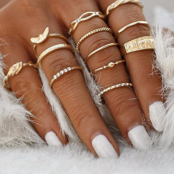 Trendy Midi Ring Set