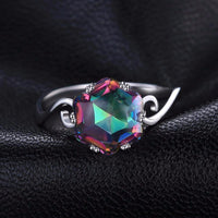 Stylish Mystic Topaz Ring
