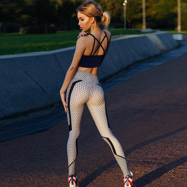 Graphic Honeycomb Fitness Legging