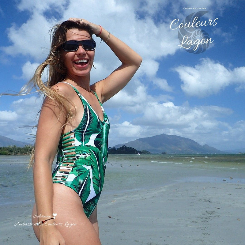 Monokini Push-Up Feuille Verte Bananier IPANEMA - Couleurs Lagon