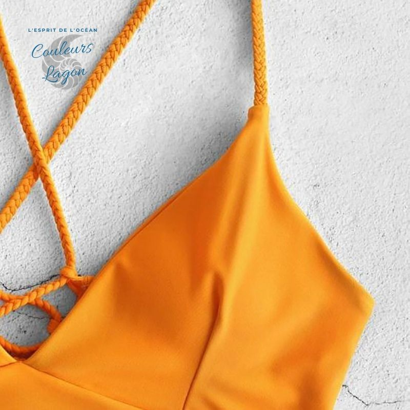 Bikini Push-Up Tangua Brésilien ORANGE FLORAL