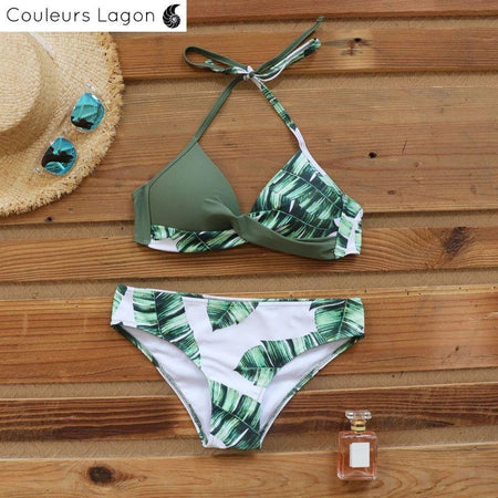 Couleurs Lagon - Bikini Push-Up Floral Star - Océan