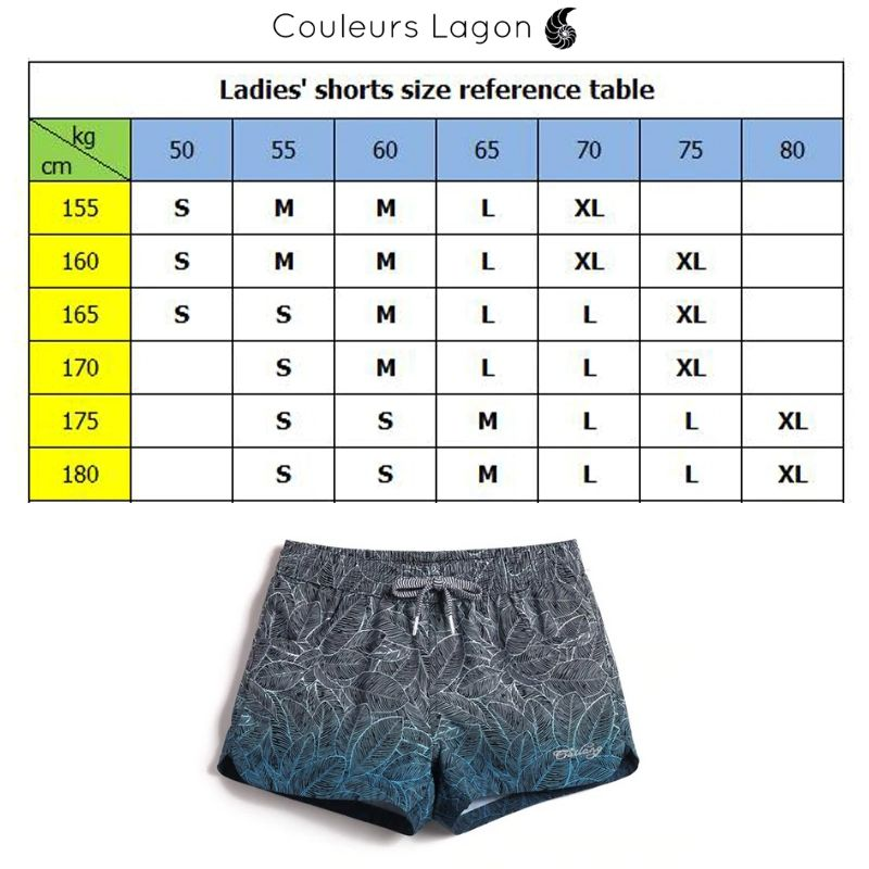 Board Short Femme NIGHT BLUE - Couleurs Lagon