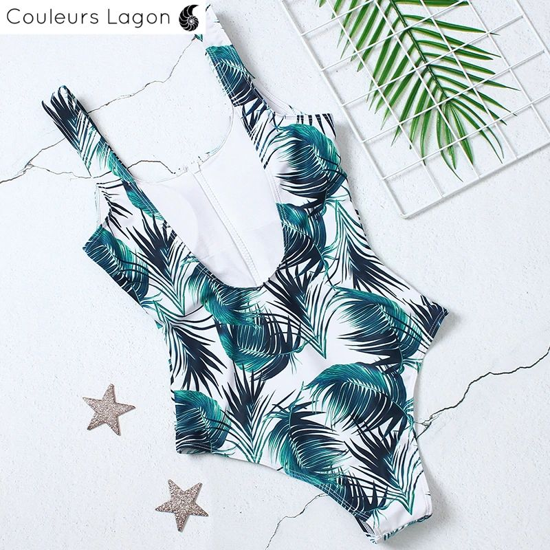 Monokini Push Up ZippOne - Couleurs Lagon