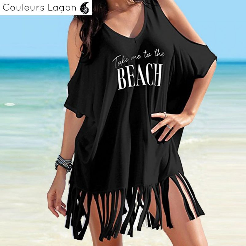 Paréo de plage Couvre Bikini TAKE ME TO THE BEACH - Couleurs Lagon