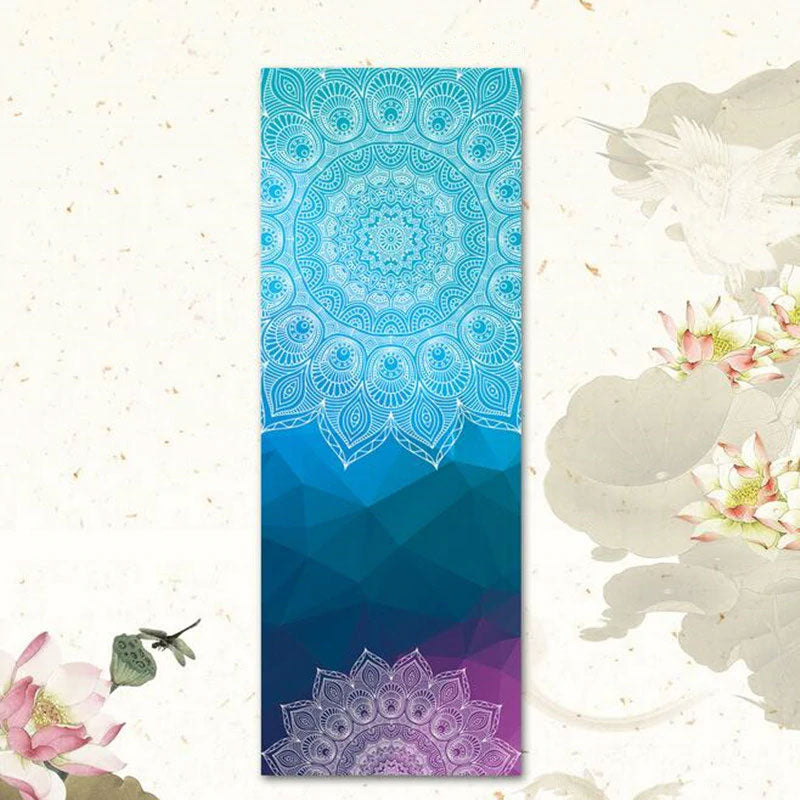 Couleurs Lagon - Tapis Serviette de Yoga 2 en 1