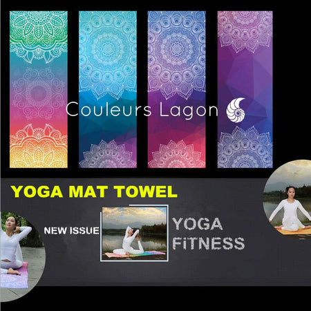 Tapis Serviette de Yoga 2 en 1 - Couleurs Lagon