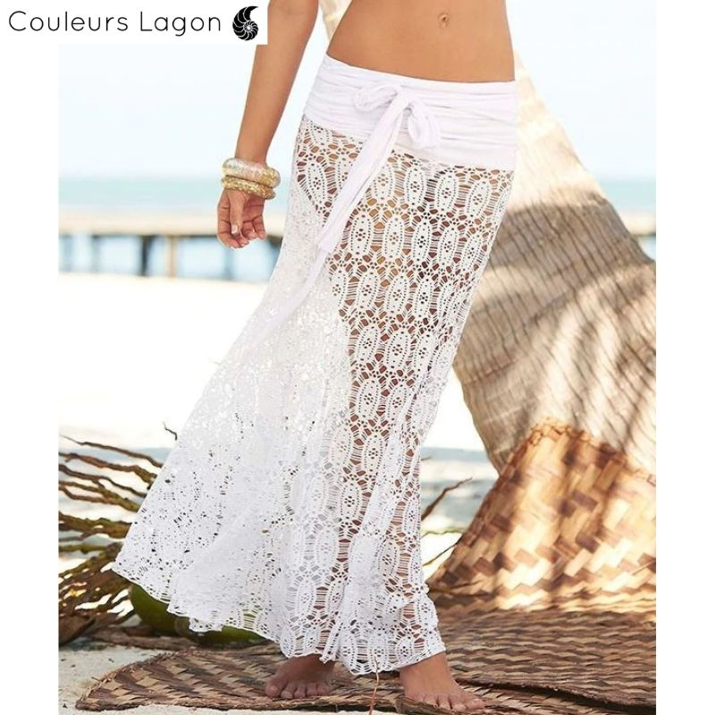 Jupe Top Long en Maille sans Manches - Couleurs Lagon