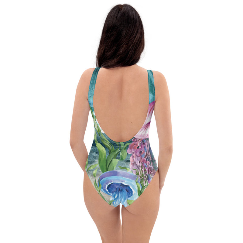 Monokini Push-UP Couleurs Lagon MARINE 1 MEDUSE - Océan
