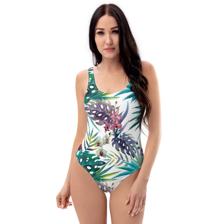 Monokini Push-Up Couleurs Lagon FLORAL 2 COLEOPTERE - Océan