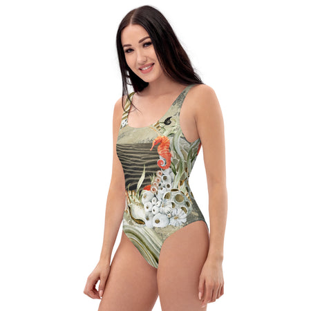 Monokini Push-Up Couleurs Lagon MARINE 2 HIPPOCAMPE - Océan