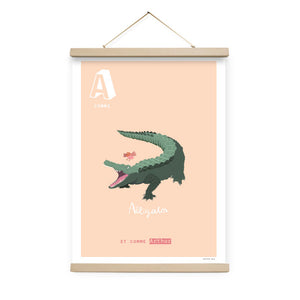 Affiche A comme Alligator