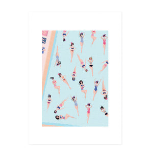 Affiche Swimming Poules A3