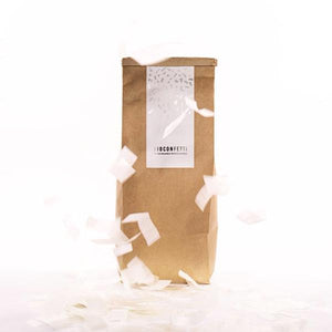 White Eco Friendly Confetti | BioConfetti Australia