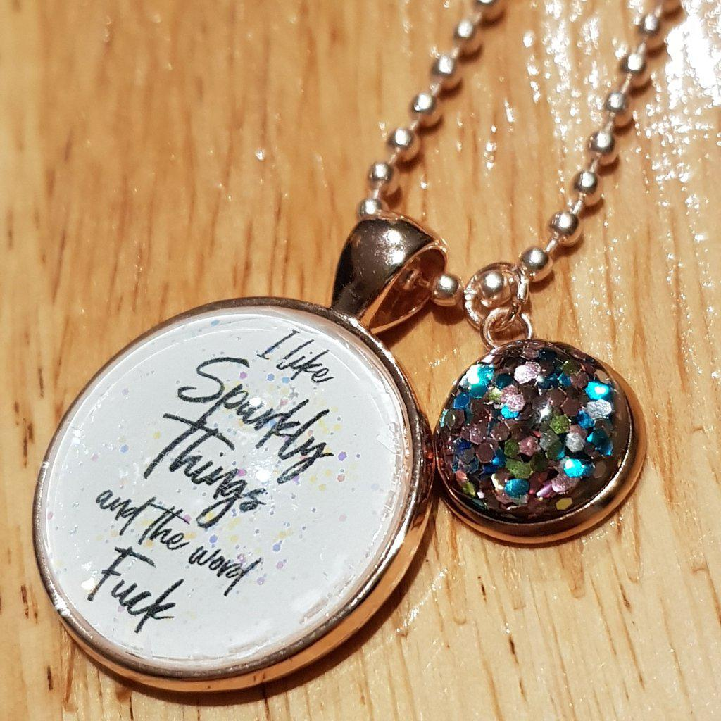 I Like Sparkly Things Necklace-Far Kew Emporium