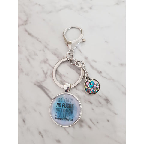 Image of She Gave No Fucks Keyring-Far Kew Emporium