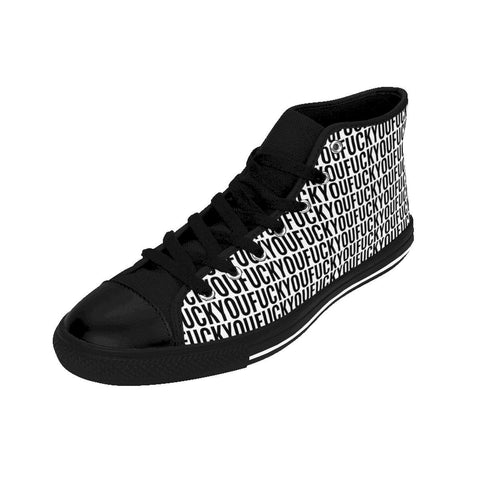 Image of Fuck You - Women's High-top Sneakers FREE SHIPPING