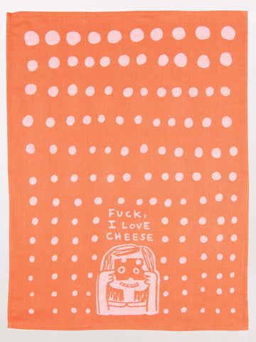 Image of Fuck I Love Cheese Tea Towel / Dish Towel