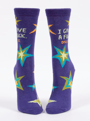 Image of I Gave A Fuck, Once Crew Socks