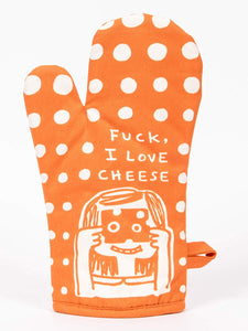 Blue Q Fuck I Love Cheese Oven Mitt