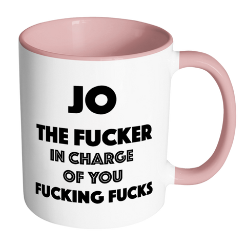 Image of The Fucker in Charge of you Fucking Fucks Mug - ANY NAME-Far Kew Emporium