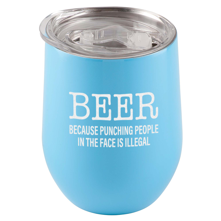 Beer. Because Punching People In The Face Is Illegal Tumbler