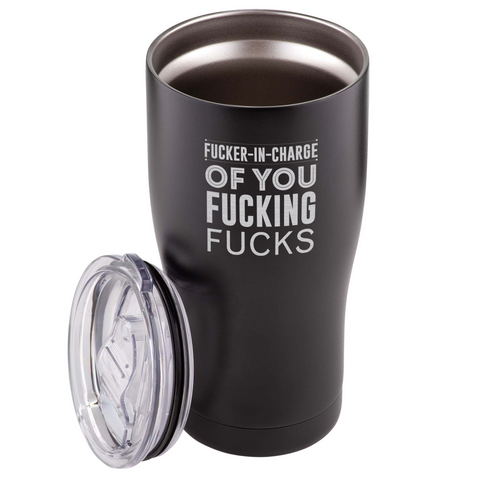 Image of Fucker in Charge 590ml Travel Tumbler